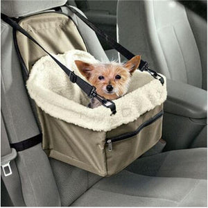 Pet Carrier Dog Car Seat Cover Waterproof Puppy Car Booster Seat Protector Outdoor Travel Dog Car Basket
