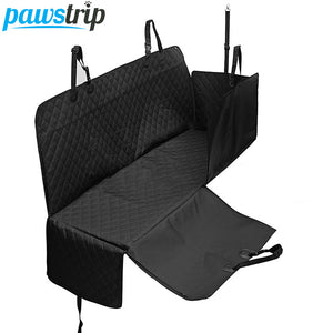 Pawstrip Luxury Black Dog Car Protector Cover Nonslip Zipper Pet Dog Car Seat Hammock Outdoor Dog Car Travel Accessories