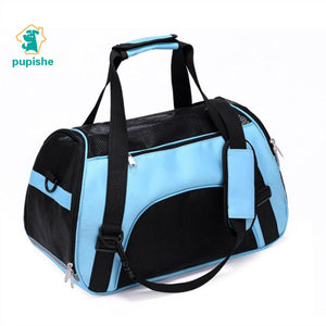 PUPISHE Pet Backpack Messenger Carrier Bags Cat Dog Carrier Outgoing Travel Packets Breathable Pet Handbag Yorkie Chihuahua