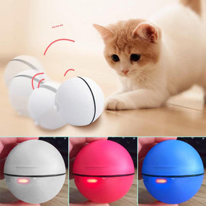 Electronic Cat Dog LED Laser Red Light Rolling Ball Perfect Toy Keep Your Pet Busy Cat Interactive Laser Ball Light Toys