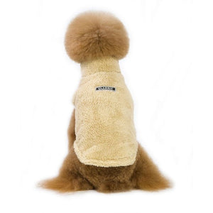 Warm Pet Dogs Clothes Cute Warm Casual Coats with High Collar for Winter and Autumn Puppy Cloth for Pet Dog