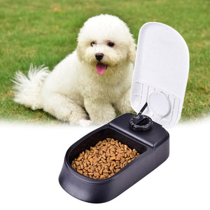 Pet Dog Timing Automatic Feeder For Cat Dog Pet Dry Food Dispenser Dish Bowl Dog Cat Feeder Bowl Easy/Convenient