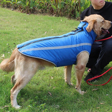 Load image into Gallery viewer, Waterproof Dog Clothes for Large Dogs Winter Warm Big Dog Jackets Padded Fleece Pet Coat Safety Reflective Design Dog Rain Coat
