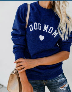 DOG MOM Sweatshirt For Women Full Sleeve Casual Tops Female Autumn Clothes for Dog Lovers