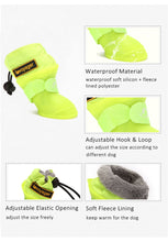 Load image into Gallery viewer, Dog Rain Boots for Small Medium Dogs Waterproof Dog Shoes Winter Snow Boots for Dogs Fleece Soft Silicon Adjustable Anti-Slip