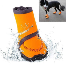 Load image into Gallery viewer, Pet Dog Winter Warm Snow Booties Waterproof Anti-Slip Protective Shoes Boot Orange Rubber Rain Shoes For Small Dogs Pet Products
