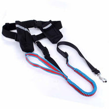 Load image into Gallery viewer, JORMEL Hand Free Pet Dogs Waist Leash for Running Elasticity Adjustable Dog Harness Collar Jogging Walking Leads with Food Bag