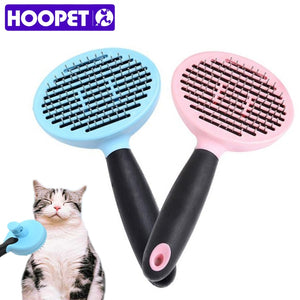 HOOPET Dog Cat Comb Shedding Tool Brush Comb Rake Pet Fur Grooming Quick Clean Short Hair