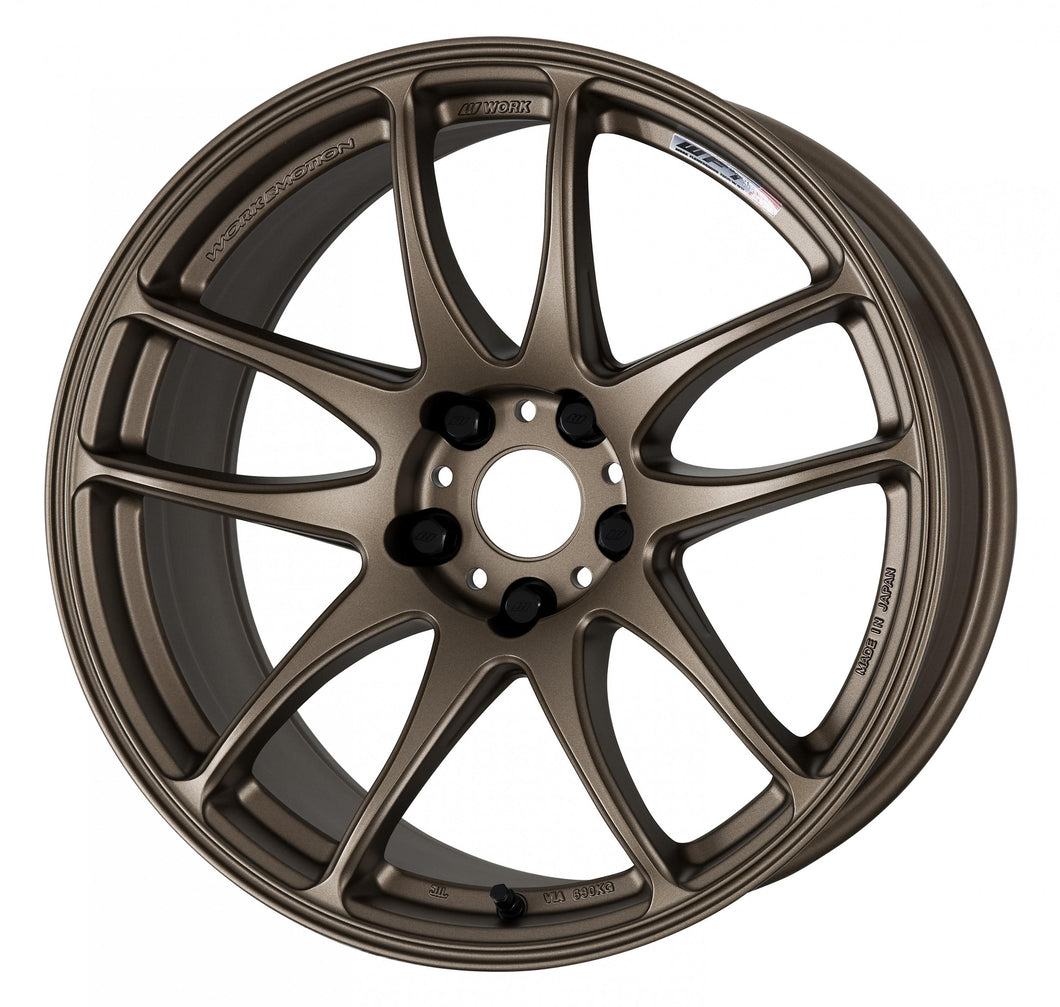 Work Wheels Emotion CR Kiwami (Ultimate) (1P) 19x9.5 +38 5x114.3 Matte Bronze