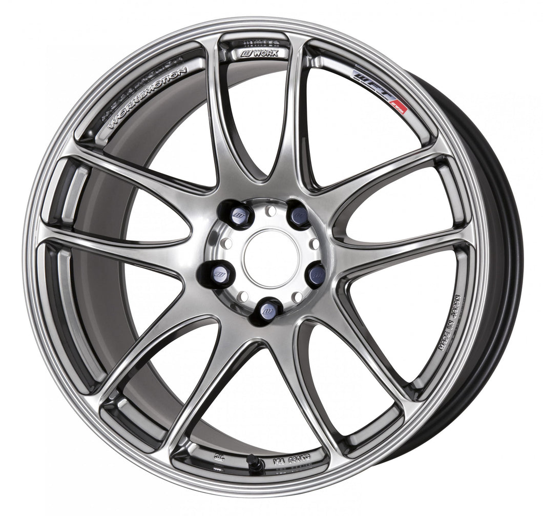 Work Wheels Emotion CR Kiwami (Ultimate) (1P) 19x9.5 +15 5x115 GT Silver