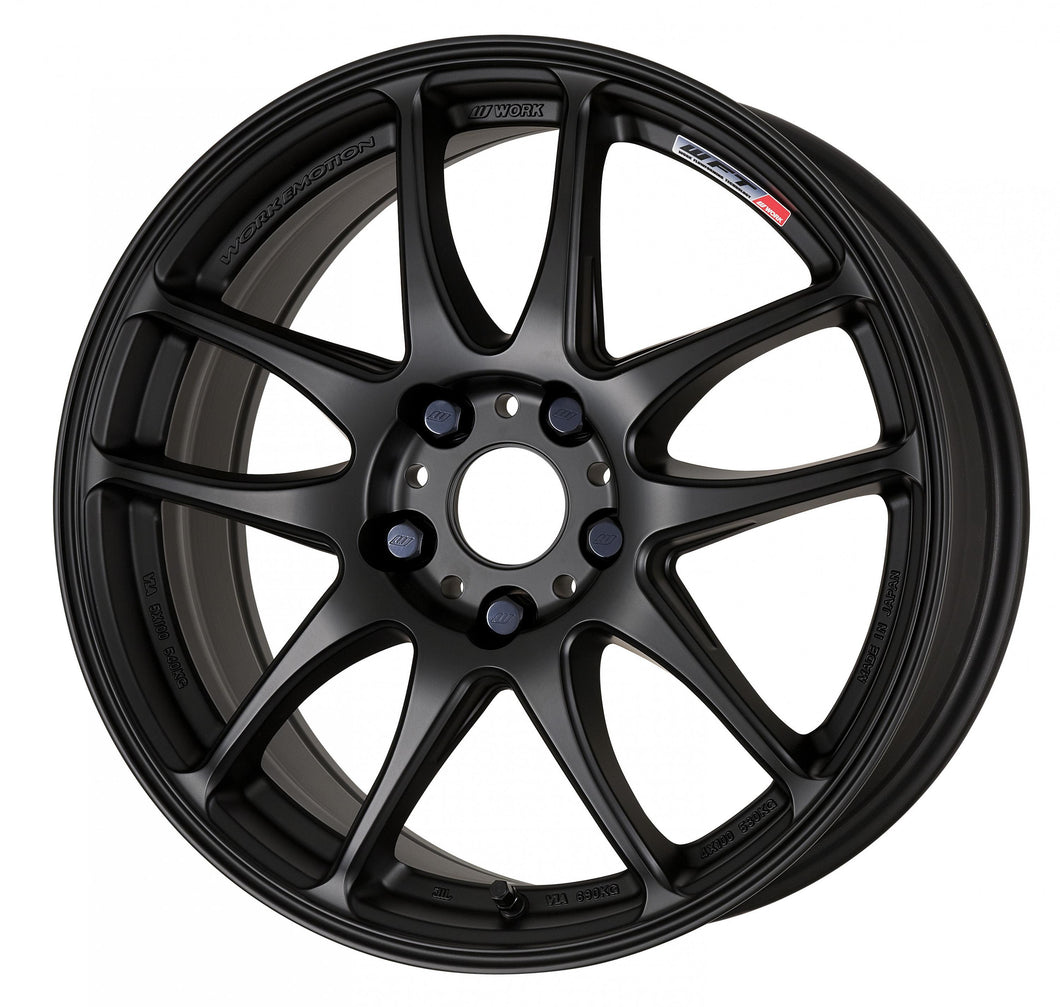 Work Wheels Emotion CR Kiwami (Ultimate) (1P) 18x10.5 +15 5x100 Matte Black