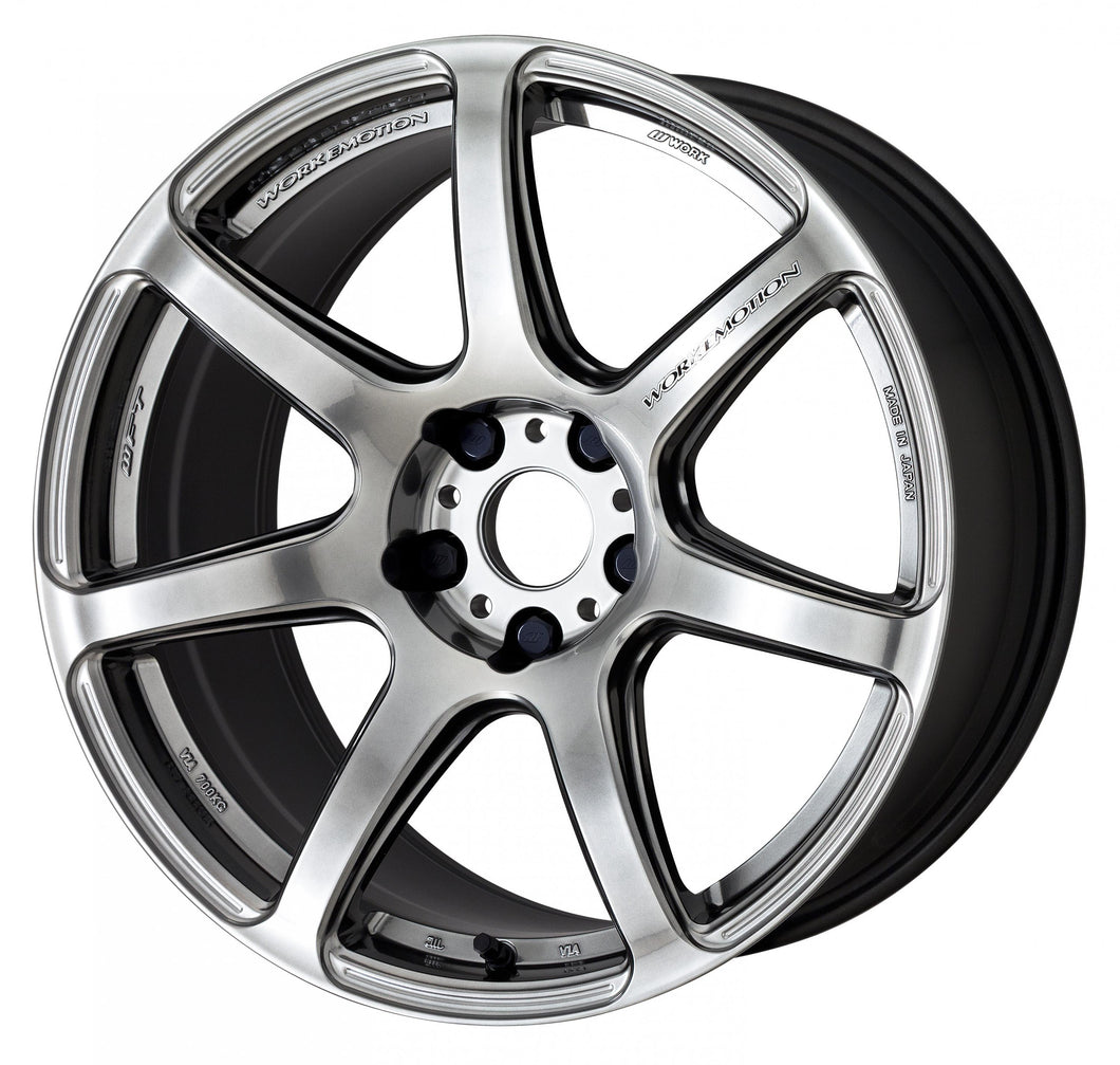 Work Wheels Emotion T7R (1P) 19x8.5 +38 5x114.3 GT Silver