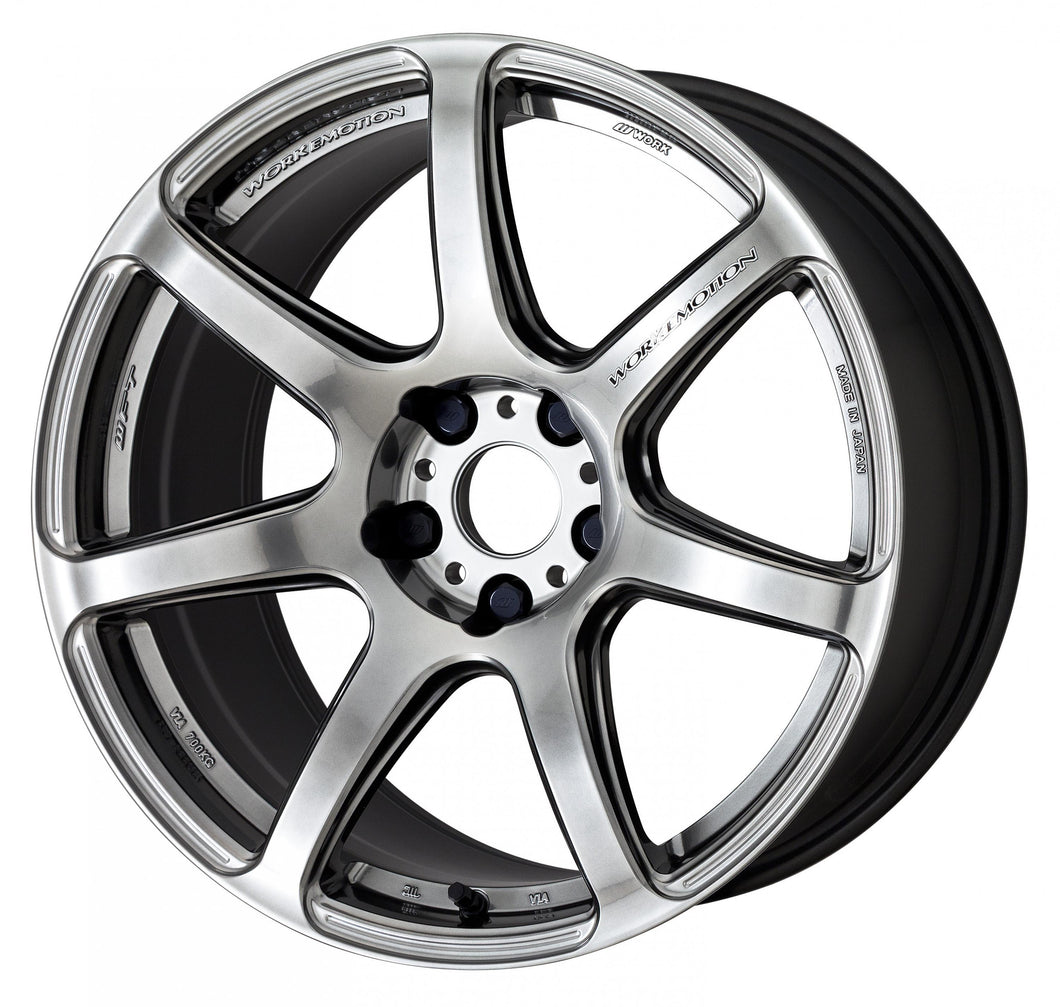 Work Wheels Emotion T7R (1P) 18x9.5 +22 5x114.3 GT Silver