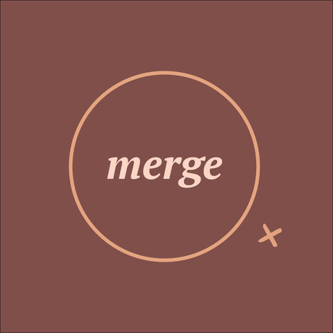 Merge Tofino second logo branding, circle with X outside
