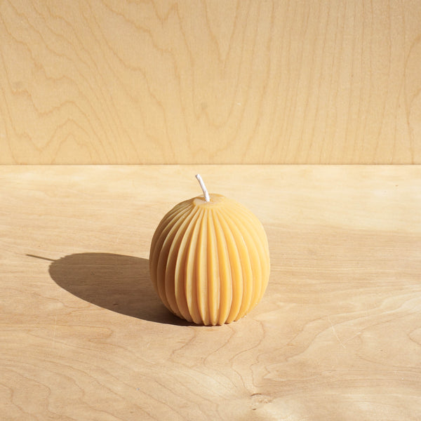 Accordion Sphere Beeswax Candle