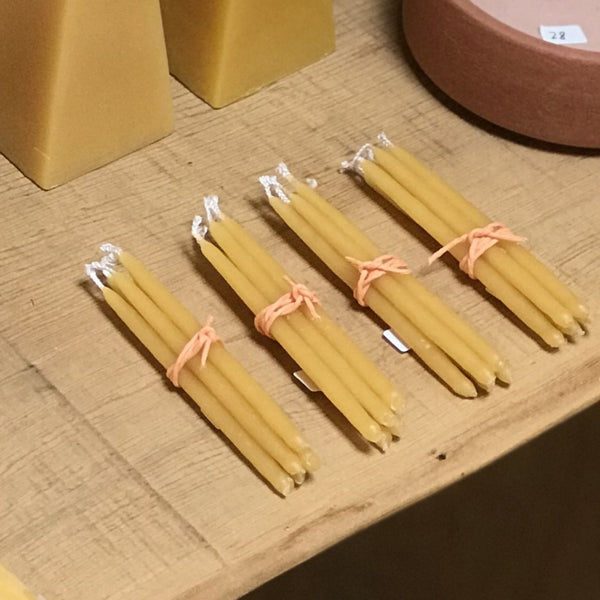 Natural Beeswax Birthday Candle Bundle