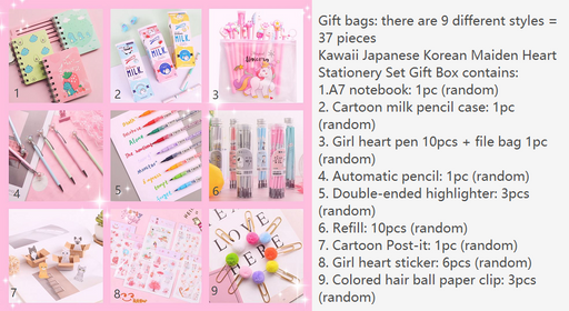 Kawaii  Japanese  Korean   Maiden Heart Stationery Set Gift Box-LB003
