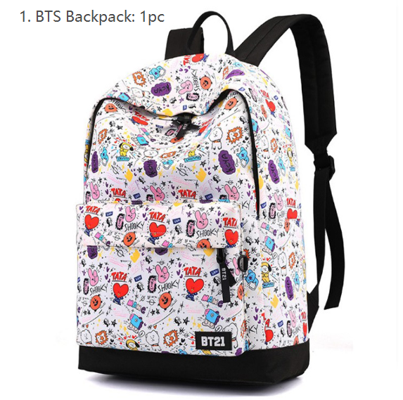 Kawaii Japanese Korean -BT21 Bulletproof Youth Regiment stationery combination spree = BT21 School Box