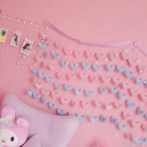 Girly Heart Bedroom Pink Love Decoration Wall Hanging