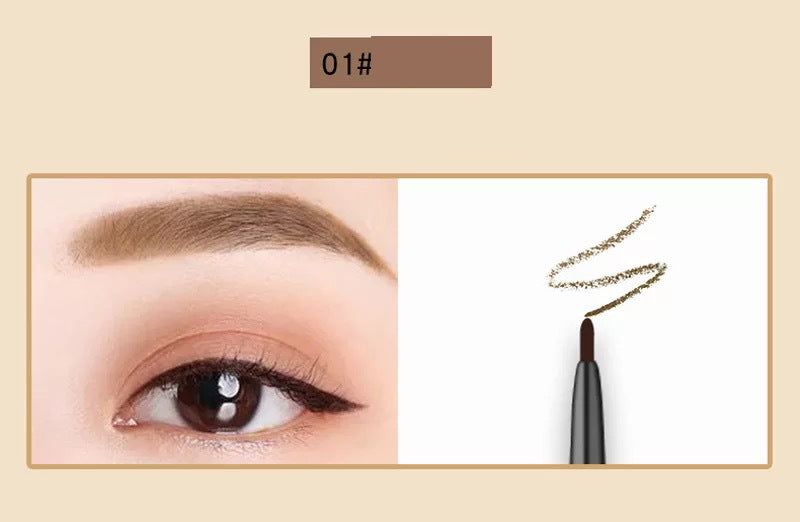 Kawaii  Japanese  Korean  Small gold bullion cube double-head fine eyebrow pencil waterproof and easy to color beginner eyebrow pencil
