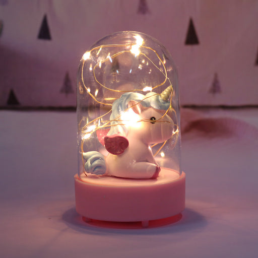Birthday Gift Unicorn Music Star Light Decoration Night Light Anime Crafts Table Lamp ~ Table Ornaments
