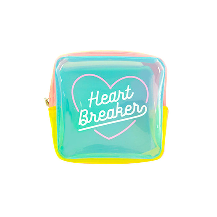 Heart terminator cosmetic bag transparent large capacity jelly bag fresh girl storage bag