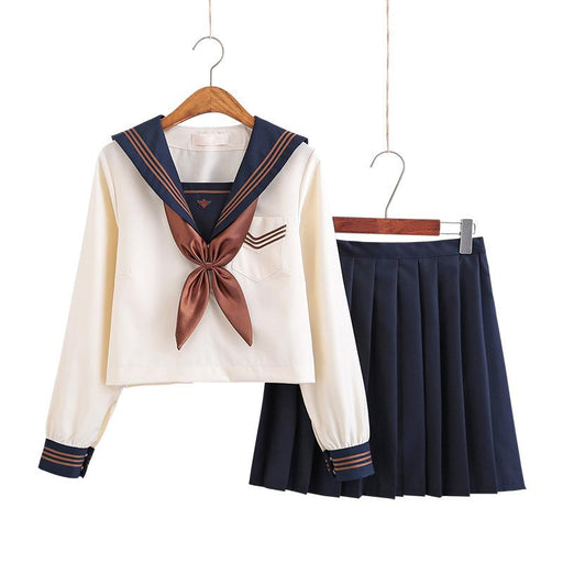Japanese jk soft girl student pleated skirt school uniform suit