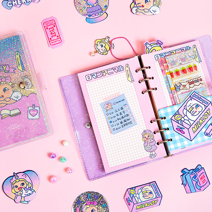 Kawaii Korean Pop Star Laser Bling Sparking Pastel Cute Girly Notebook Journal Box