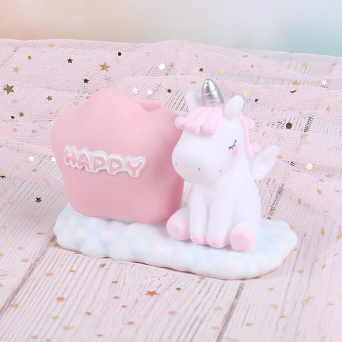 Unicorn Student Office Stationery Decoration Gift Ornament Animation Craft Pen Holder