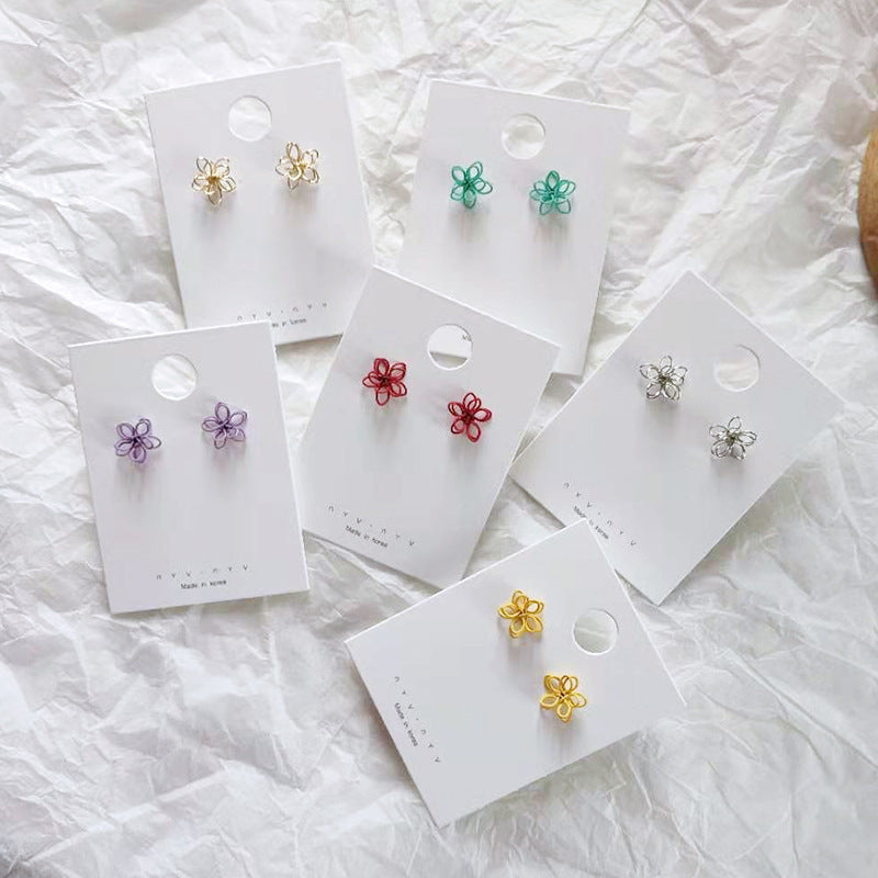 Kawaii  Japanese  Korean  Girly ins wind small and cute flower earrings