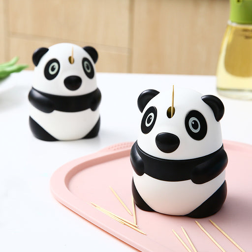 Aesthetic Cartoon Panda Automatic Toothpick Holder