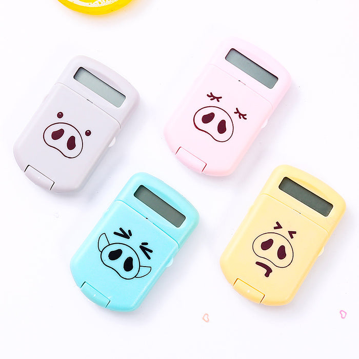 Kawaii Japanese and Korean mini piggy calculator portable portable calculator