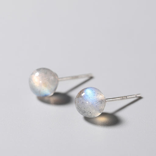 s925 silver moonstone earrings