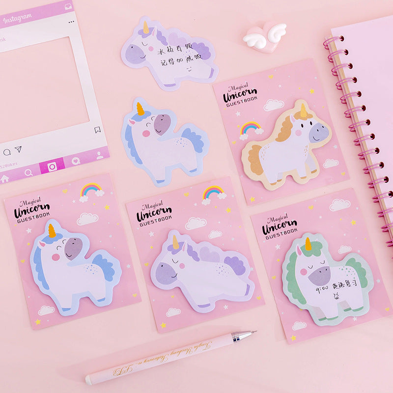 Kawaii  Japanese  Korean  Pink girl heart unicorn sticky notes stickers shop