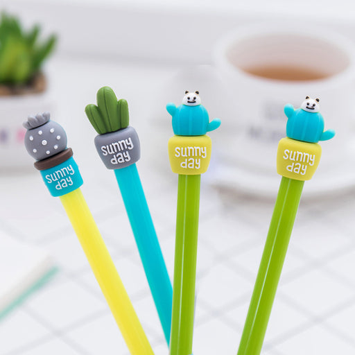 Kawaii Japanese Korean Cactus potted gel pen
