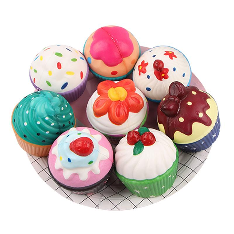 Silly Squishy - Kawaii Korean Japanese Slow Rebound Cross-Border Color Printing Cupcake Squishy