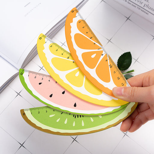 Kawaii  Japanese  Korean Cartoon Fruit Ruler Wooden Hand Account Ruler