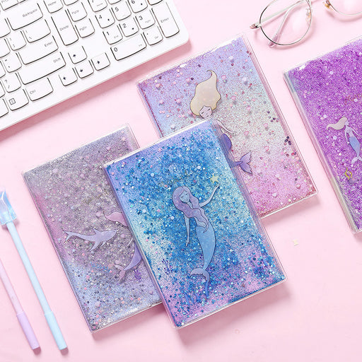 Kawaii Japanese Korean Mermaid Quicksand Notebook