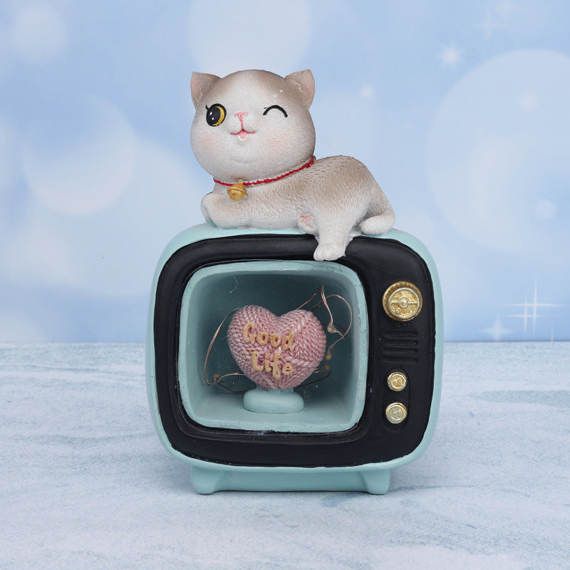Fat cat TV Star Light Night Light Leisure Creative Decoration Gift Table Lamp ~ Table Ornaments