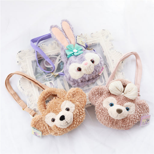 Kawaii Korean Japanese Cute bear Mei Meixing Dailu rabbit plush portable messenger backpack