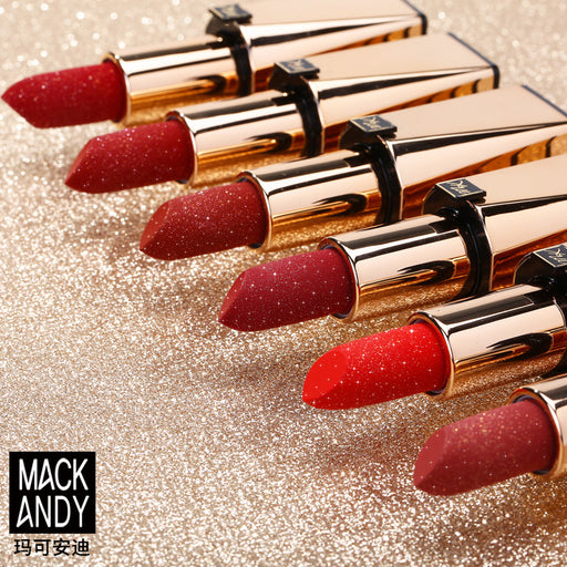 Kawaii  Japanese  Korean Marco Andy Luxury Gold Stunning Magnet Buckle Flash Gold Moisturizing Lipstick