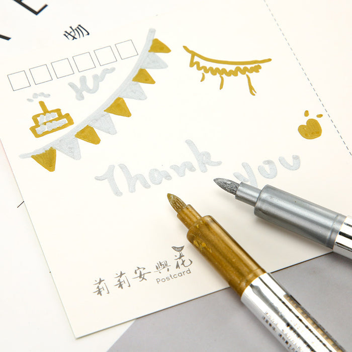 Metallic color craft pen Pokemon  creative stationery paint pen greeting card blessing card note pen signature pen