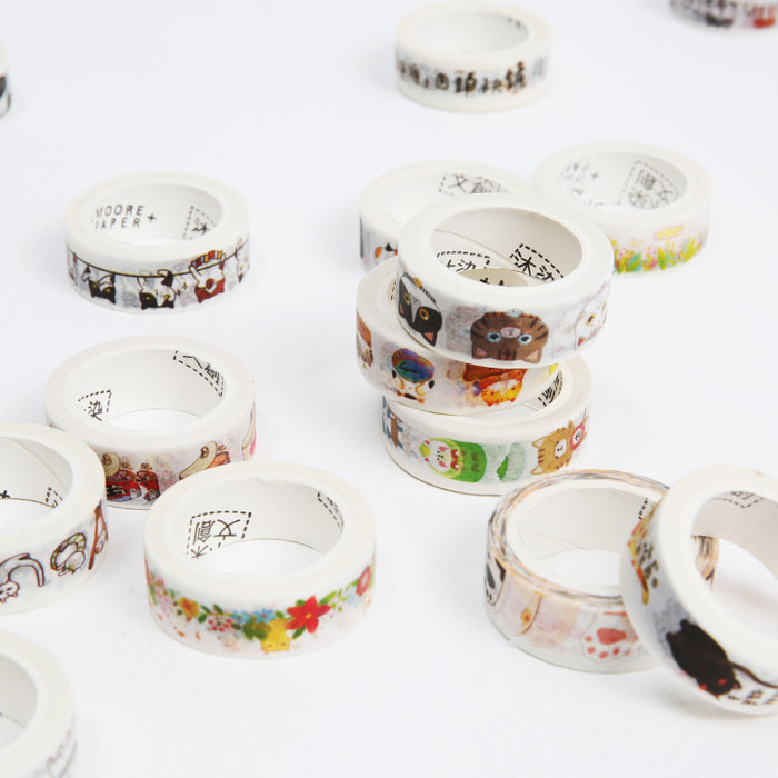Kawaii Korean Japanese Girly Floral Nature  Washi Tape Set