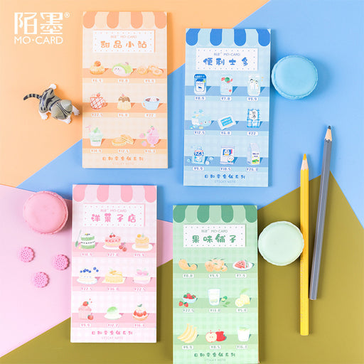 Kawaii Korean Japanese Today And Snack Shop Series Memo Sticky Note