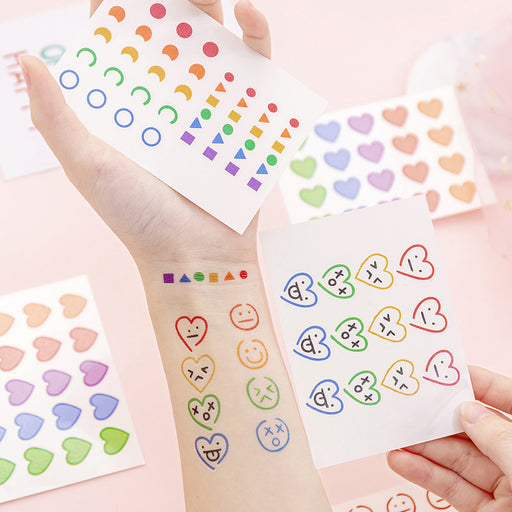 Kawaii  Japanese  Korean  Cartoon smiley tattoo stickers lasting waterproof girl tattoo stickers