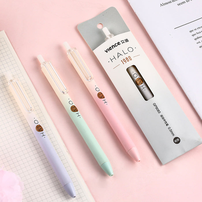 Wen Xi gel pens are all issued Korean small fresh black pen  student office signature pen pen