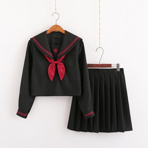 Japanese soft girl JK uniform sailor school style suit