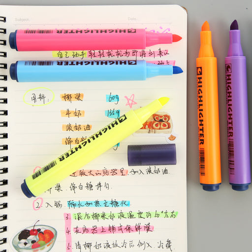 Genuine STA Star Japanese triangle pen highlighter student creative = marker underline marker pen watercolor pen