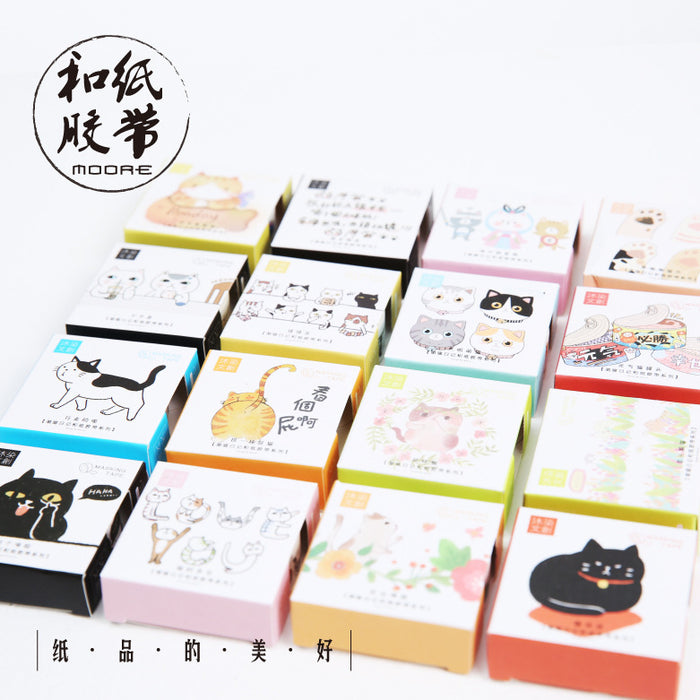 Kawaii Korean Japanese Girly Cute Cat Diary Washi Tape Set