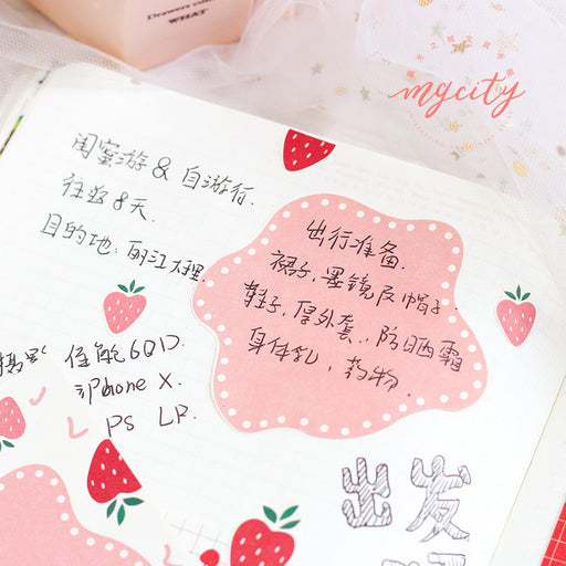 Kawaii Korean Japanese Twilight Notepad Sweet Fruit Fresh Message Memo Sticky Note